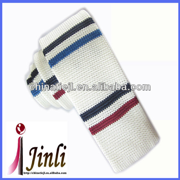 Polyester skinny knitted kids neck tie