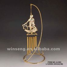 24K Gold Plated Zodiac stand Wind Bell