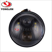 "china supplier 4x4 led light 7"" 55W round headlight for motorcycle"