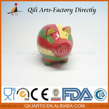 New design pig shape ceramic cartoon money bank
