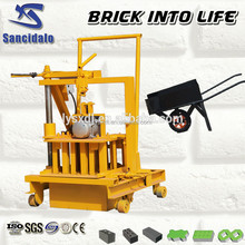Easy moving turkey movable block making machines for sale QT40-3c standard concrete hollow block specification