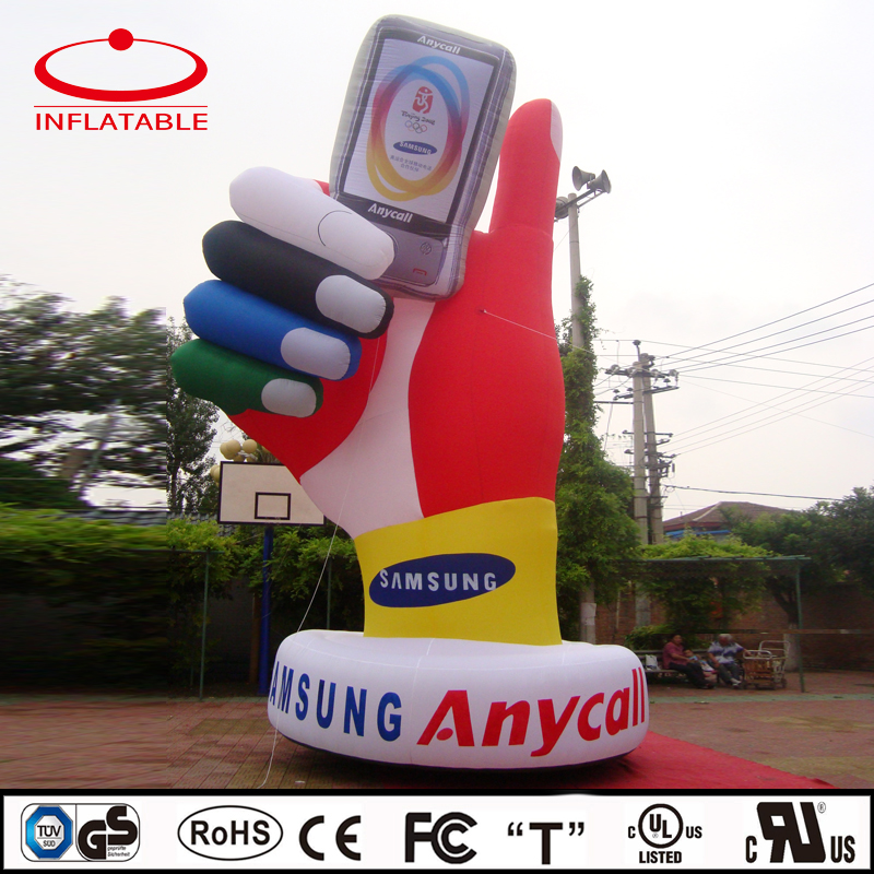 inflatable hand shaped model replica