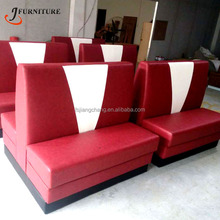 Easy Clean Fast Food Shop Single Seating Restaurant Booth Furniture