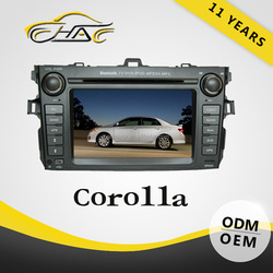In dash 7 inch car audio gps system for toyota corolla rear view camera