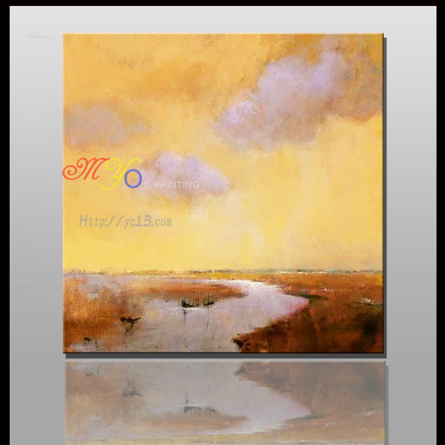 beautiful handmade natural scenery painting Abstract handmade canvas oil painting