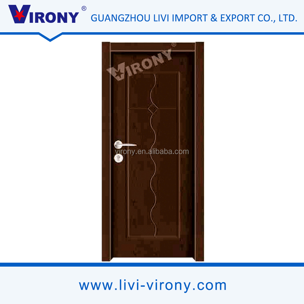 Factory price modern design interior virony solid wooden doors