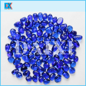 irregular pool finishes glass beads with dazzling colors