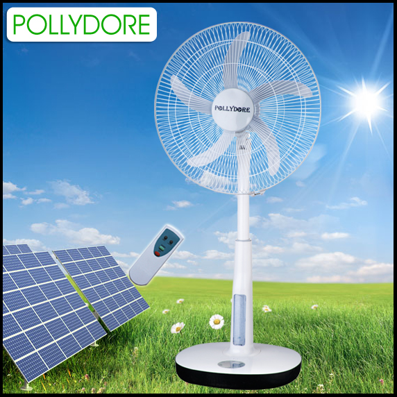 battery operated fan solar charging with light & 22 inch