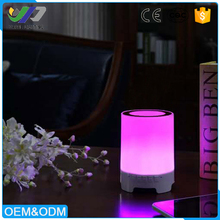 Night light wireless music speaker LED bluetooth speaker with touch sensor