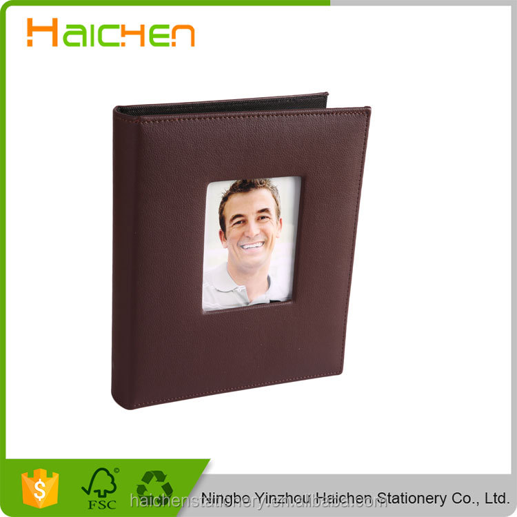 Customized logo korea 10x12 leather wholesale photo album