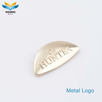 factory low price metal antique nameplates for shirts