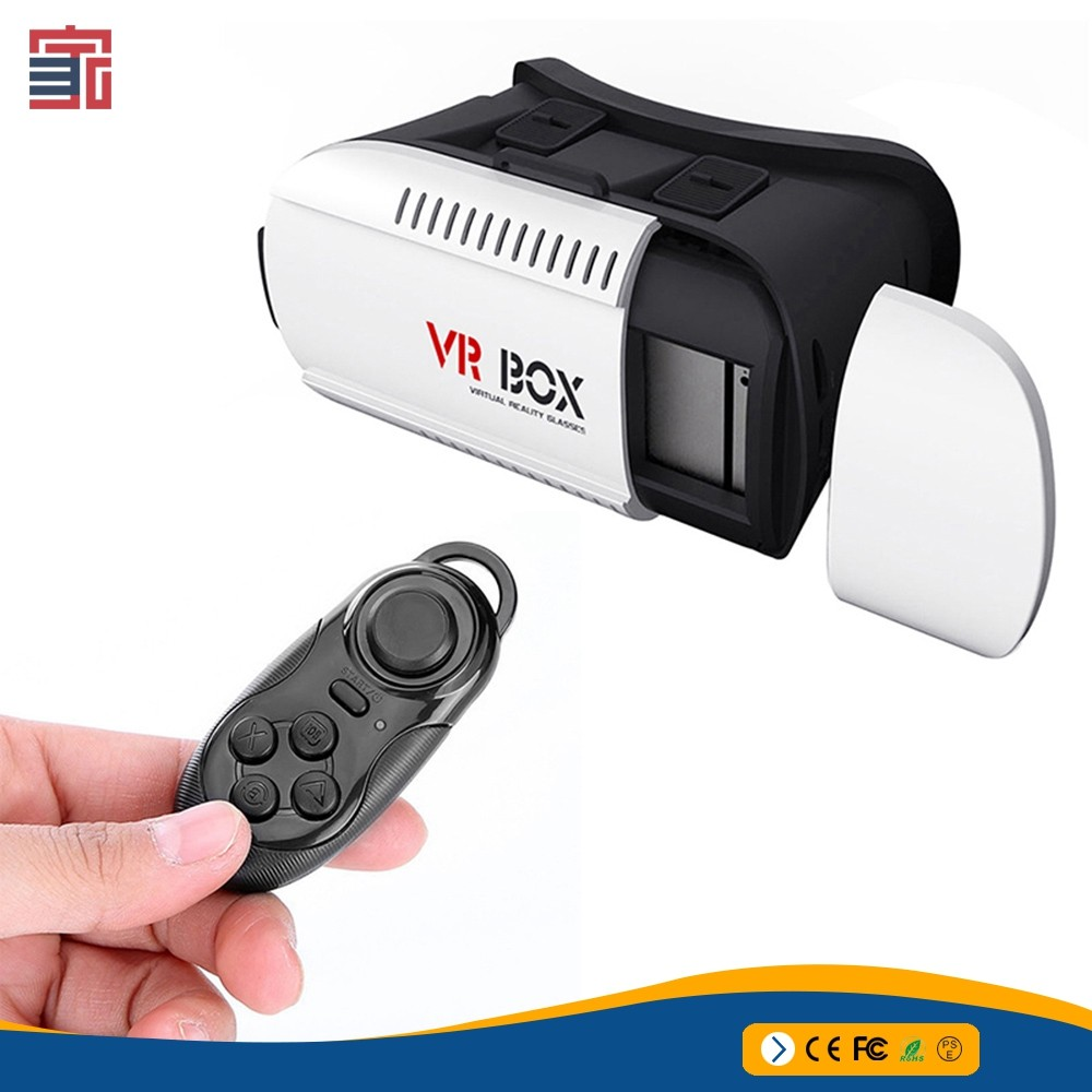 2017 High Quality Vr Box 2.0 Version 2 Vr Virtual Smart Bluetooth Remote Control For blue film/game/open video