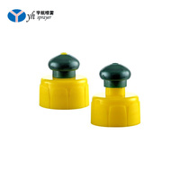 Fashionable design plastic push pull closure cap for sport water bottle plastic 28mm bottle caps