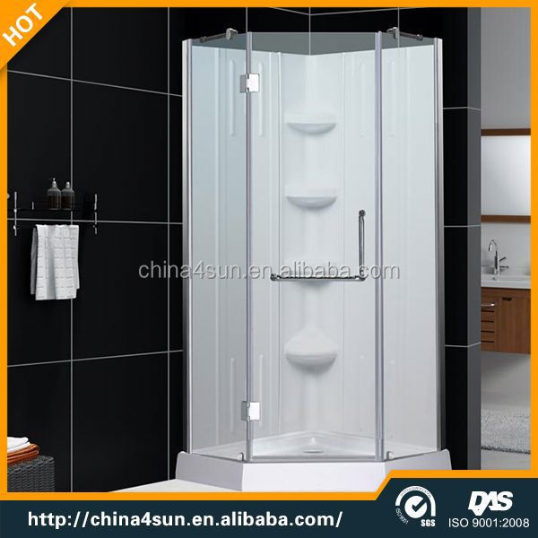 3 side glass outdoor steam shower room