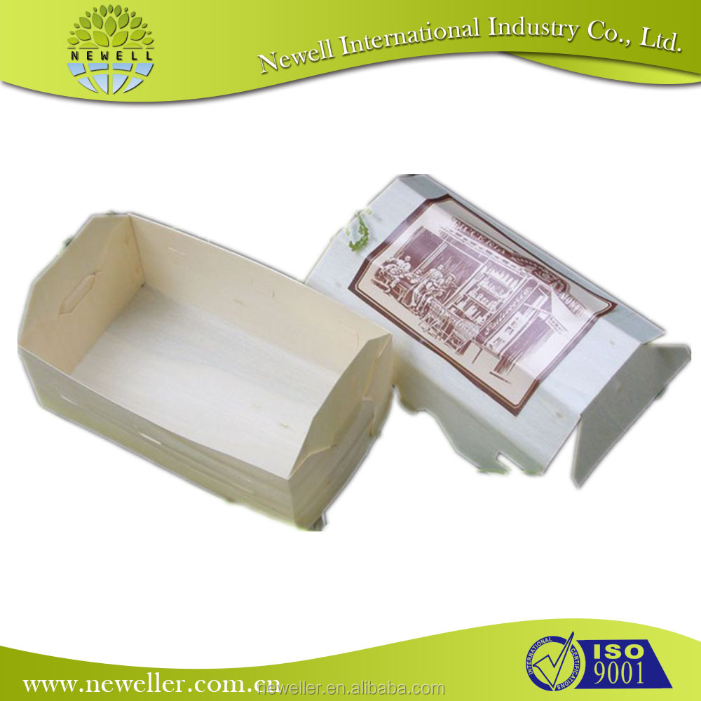 best quality flexible round shape paper tray in individually packing