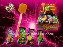 2015 New Rose Sparkling Lollipop Sweets/Candy Rose Lollipops