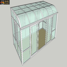 Top quality curved glass sunroom