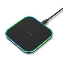 Square Metal Universal <strong>Mobile</strong> <strong>Phone</strong> 10W Fast Wireless Charger