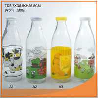 1L glass milk bottle with swing top Hot supply