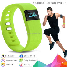 2016 0.49inch OLED display heart rate monitor bluetooth fitness tracker smart bracelet wristband