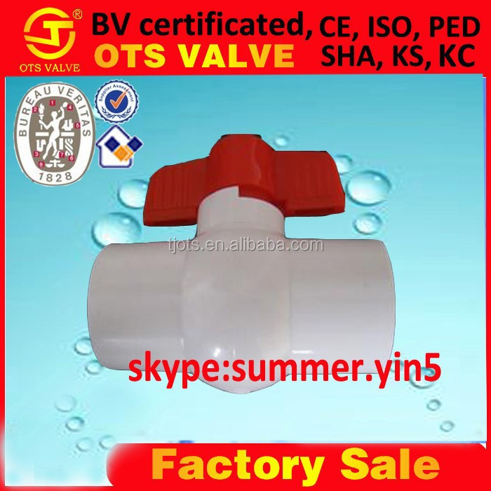 BV-SY-675 2 inch 4 inch pvc plastic compact ball valve thread/socket end connection