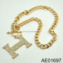 latest design dubai gold chain necklace, hot sale in foreign market