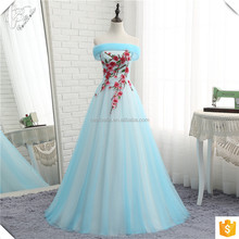 OY083 Puff Ball Gown Princess Dresses Light Blue Coral Tulle Skirt Latest Bridal Wedding Gowns Real Picture 2018