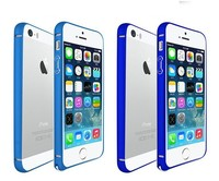 Sky Blue / Dark Blue Color Aluminium Alloy Blade Metal Frame Bumper Case for iphone 6 4.7""