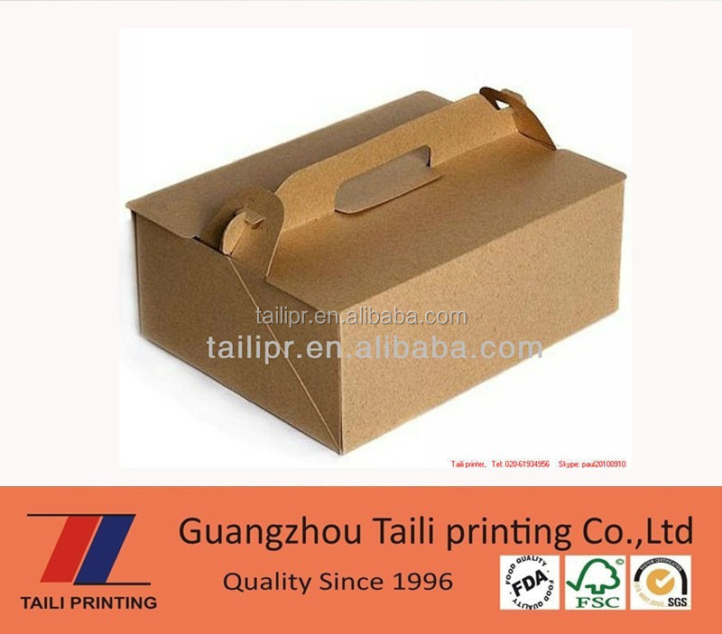 Eco friendly custom paper take out food cartons