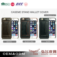 Genuine leather back Cover for iPhone 6s with card slot/ Leather mobile phone case for iphone 6s