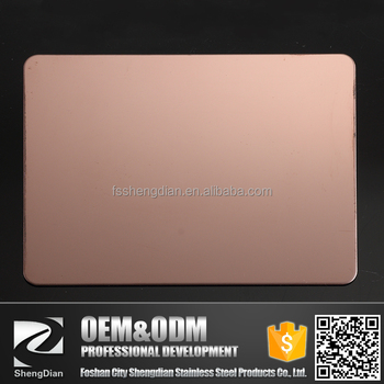 Foshan Wholesale Decoration Building 0.5mm Thick Prices Gold Mirror Stainless Steel Sheet For Hotel Hall