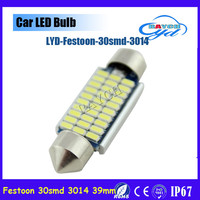 2 x 41MM Festoon led Dome C5W 42mm 3014 33SMD LED Canbus Car Door Reading light Luggage Bulb License Plate Light car led source