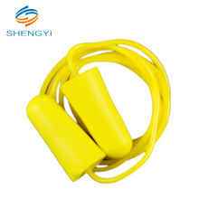 Sleeping noise cancelling safety corded silicone earplugs for snoring partners with container