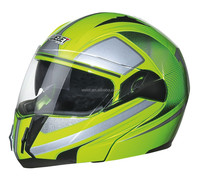 New flip-up helmet motorcycle helmet Green DOT helmet