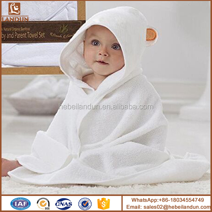 100% Organic Bamaboo Soft and Thick Baby Hooded Towel