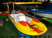 4~5 people amusement leisure tour boat /pedalo with awning