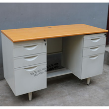 executive steel office desk with locking drawers iso standard office table size