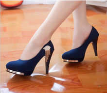 D92962T new design fashion casual studded high heel buckle office ladies shoes/women shoes
