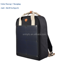 2017 New Style Solar Energy Charging Anti-theft Backpack Laptop Bag With Solar Panels