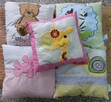 cheap stock available pillow many colors and applique choose decorative small cushion