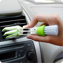 Multifunctional Double Cleaning Brush Head Window Blind Duster Cleaner For Car Air Outlet Keyboard Air Condition