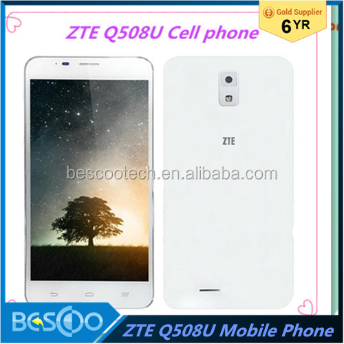Original ZTE Q508U cell phone 5.5inch Mobile Phone Android 4.4 Snapdragon 410 Quad Core 1.2Ghz 4GB ROM Dual SIM 5.0MP cell phone