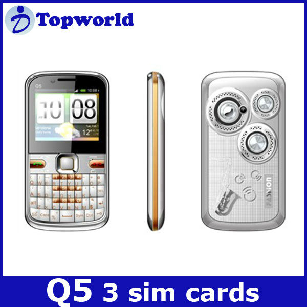 Q5 3 sim cards mobile 2.2 inch screen TV phone