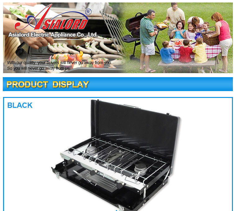 2017 Outdoor Kitchen Appliance Stainless Steel 3 Burner LPG Gas Stove