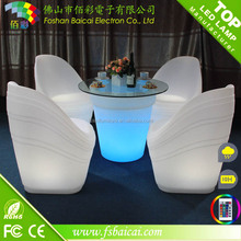 Rechargeable LED Glowing Table LED Outdoor Garden Bar Furniture / Used bar furniture