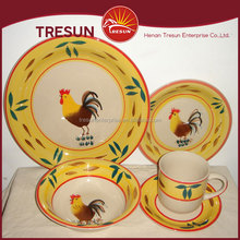 2017 New Year Rooster Design Ceramic Tableware, Hand-painting Stoneware Dinner Set