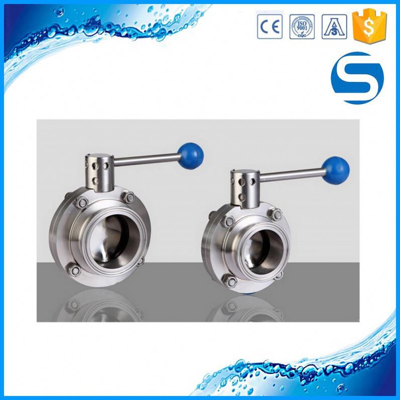 3A Sanitary welded high quality 1pc butterfly ss ball valve
