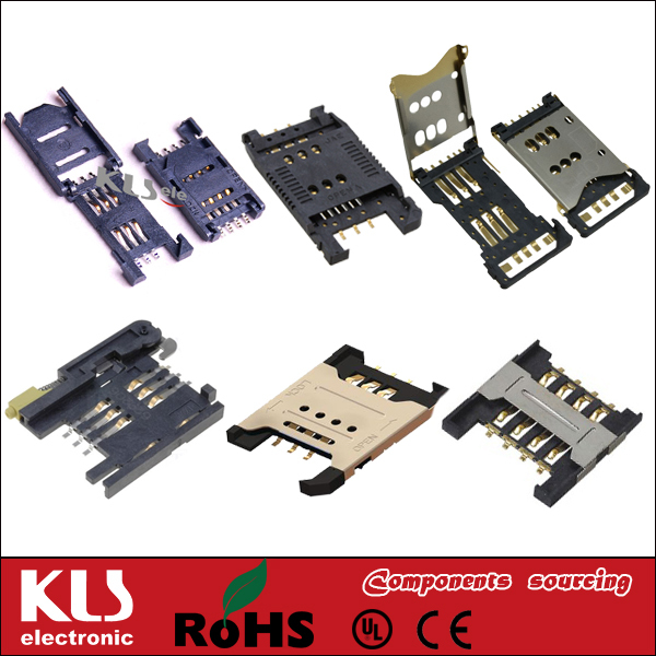 Good quality 8 pin iphone sim card connector UL CE ROHS <strong>101</strong>