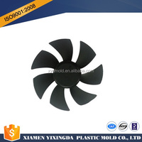 Custom high quality ABS black plastic injection plastic fan blade