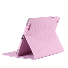 Turn Around Lambskin Leather Wallet Book Flip Protective Skin Case for iPad 5, wallet leather case